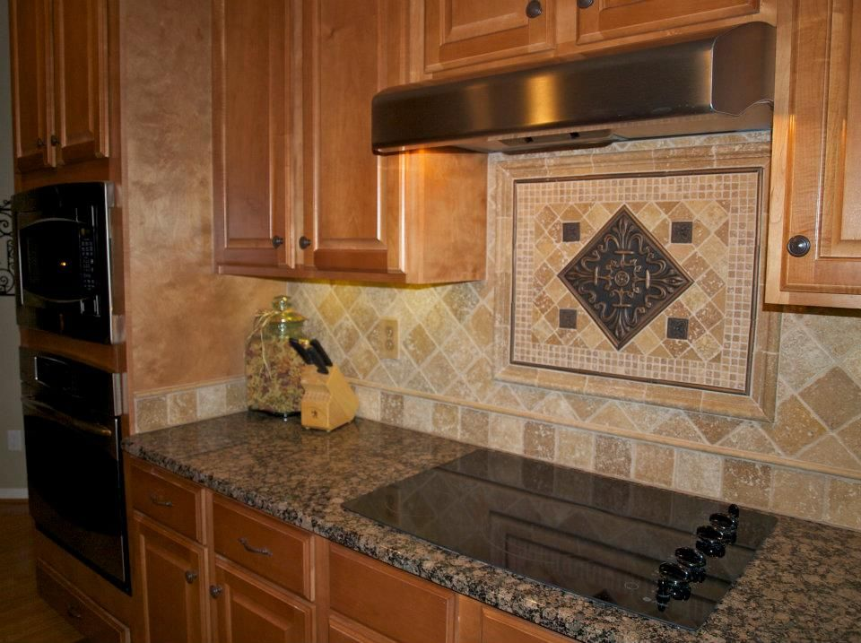 Travertine Stone Backsplash : Travertine backsplash house yard kitchen
