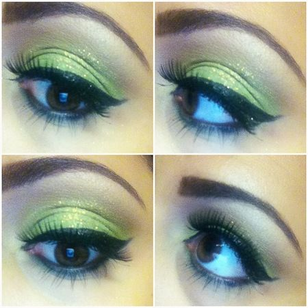 green glitter eyeshadow  beautiful eye makeup makeup