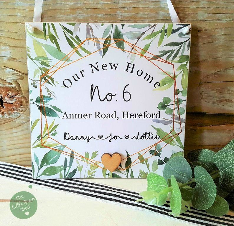 New Home Plaque Housewarming Gift Personalised Keepsake ...