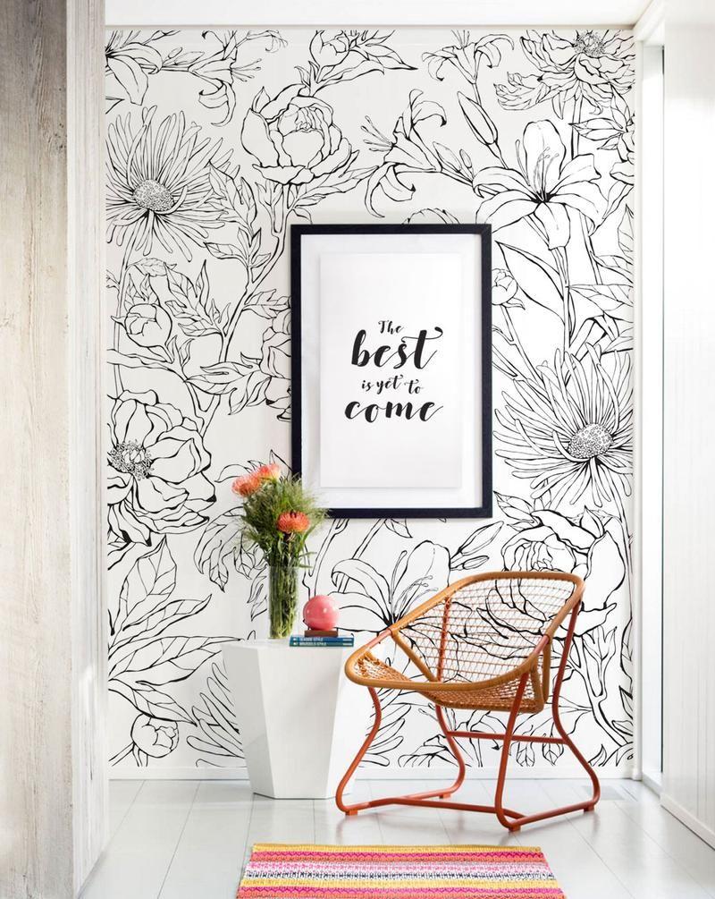 Faux Stone Wallpaper Peel And Stick Simple Shapes Wall Art Wallpaper Mural Wall Art Flower Mural