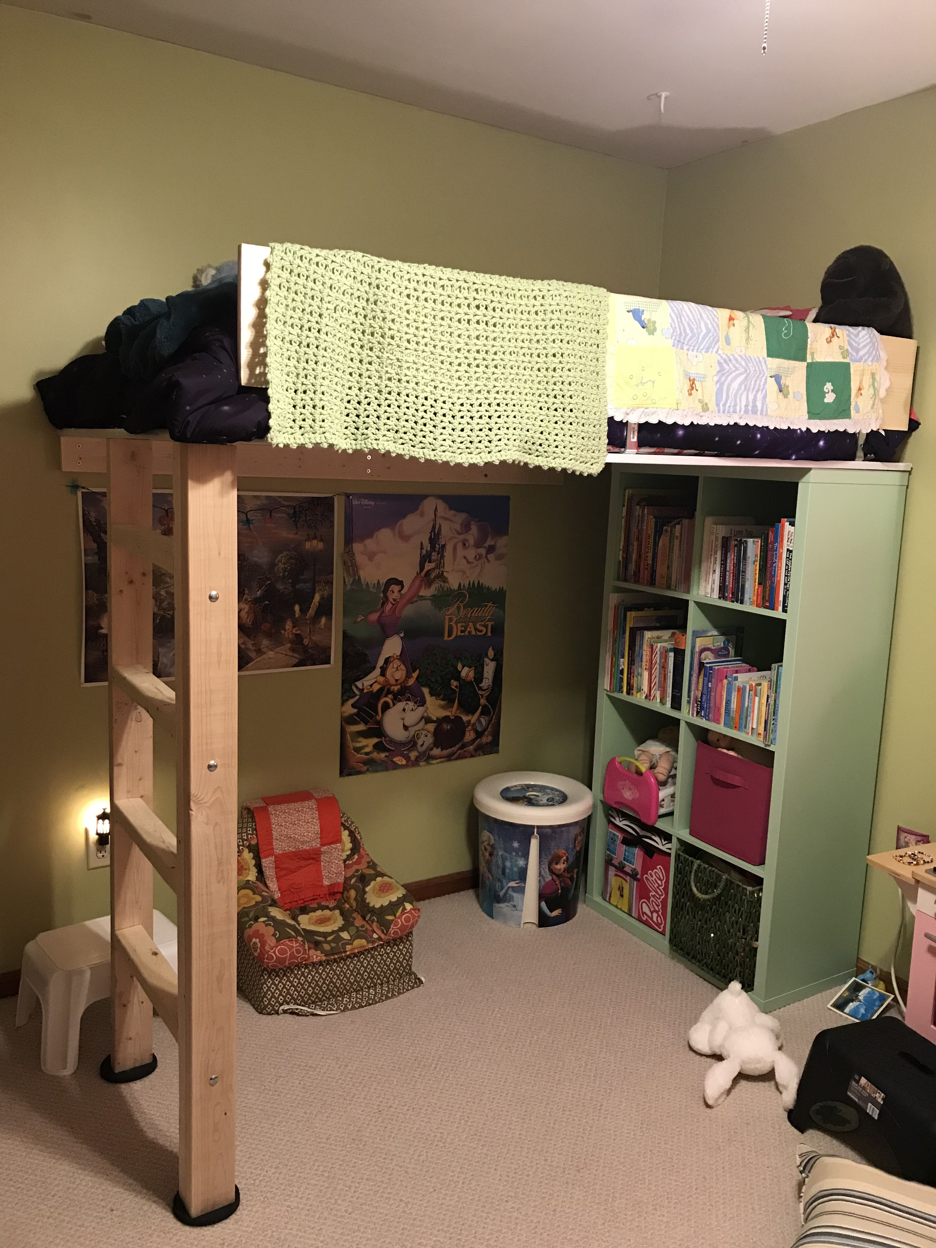 Lofted Bed Using Better Homes And Gardens Storage Cube Shelf