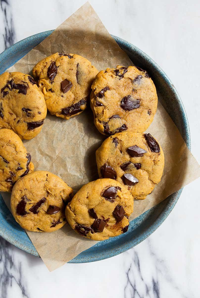 It's almost fall and time for everything pumpkin, including these sweet pumpkin chocolate chip cookies!