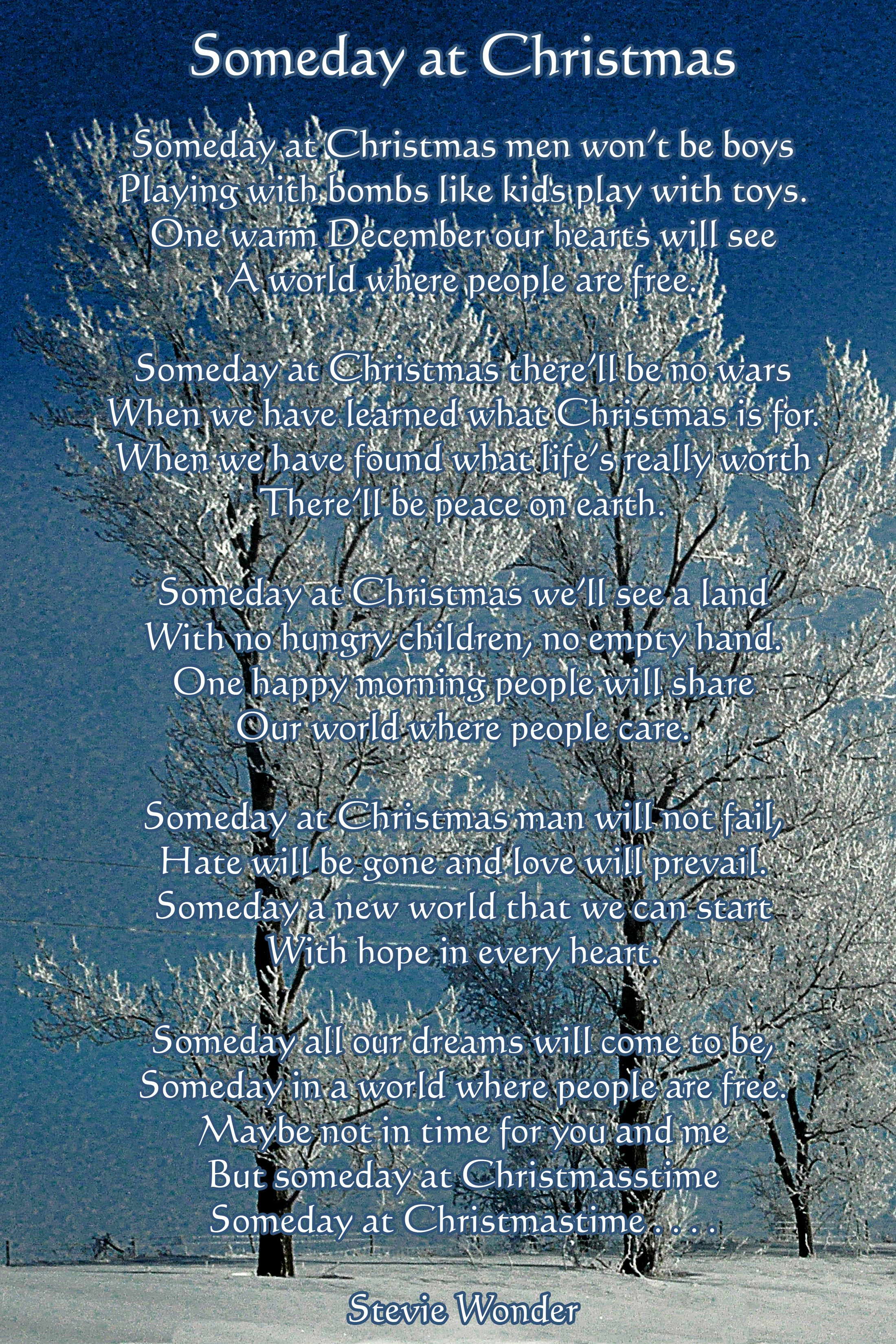 Someday At Christmas Lyrics.Pinterest