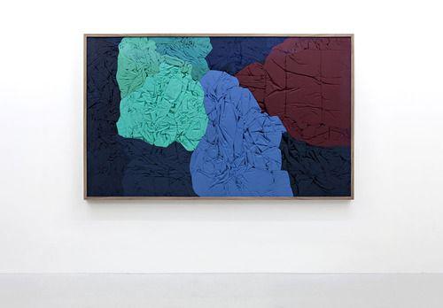 Nina Beier  'Portrait Mode', 2011  found garments, frame