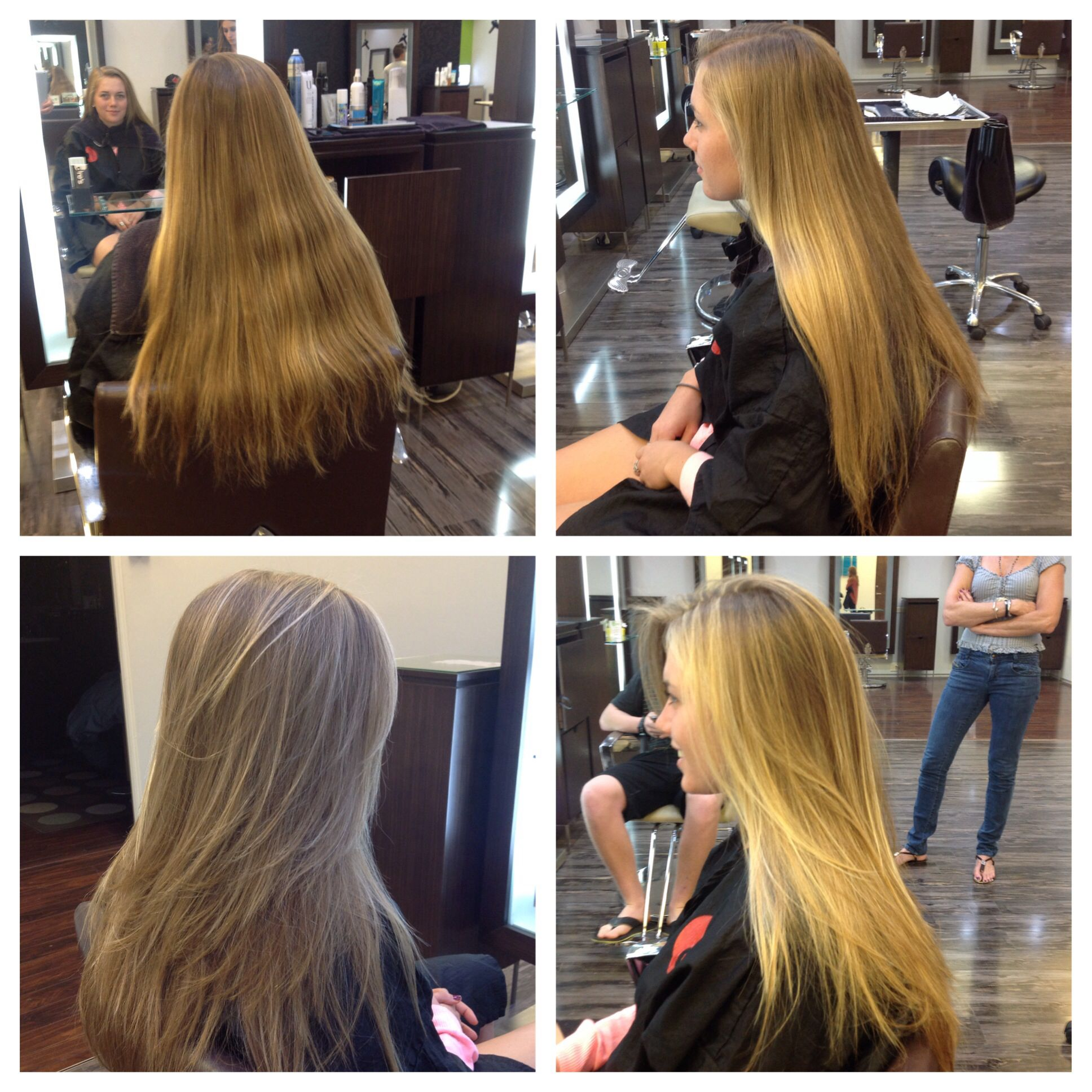 Long Layered Haircut With Sun Kissed Highlights Dres Hair