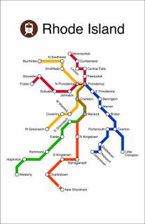 Providence Subway Map.Fake Subway Map Of The Entire State Ri Map Art Subway Map Art
