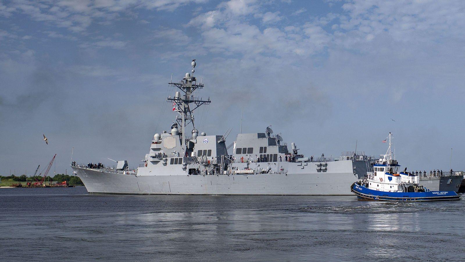 Future USS Delbert D. Black Departs Ingalls Shipbuilding