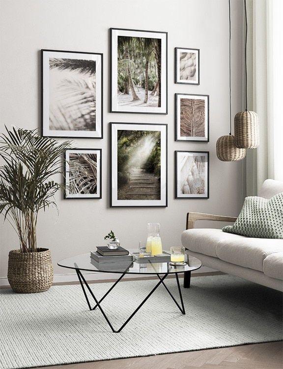 Inspiration Till Tavelvaggar Och Tavelkollage Hanga Tavlor Gallery Wall Living Room Decor Inspiration Living Room Wall