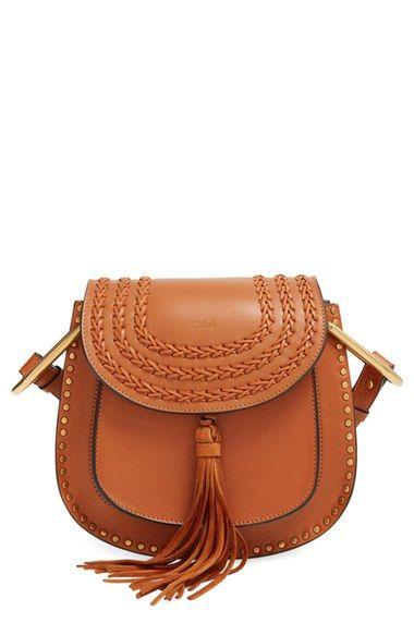 0015356fd59 Chloe Small Hudson Studded Crossbody Bag in Caramel