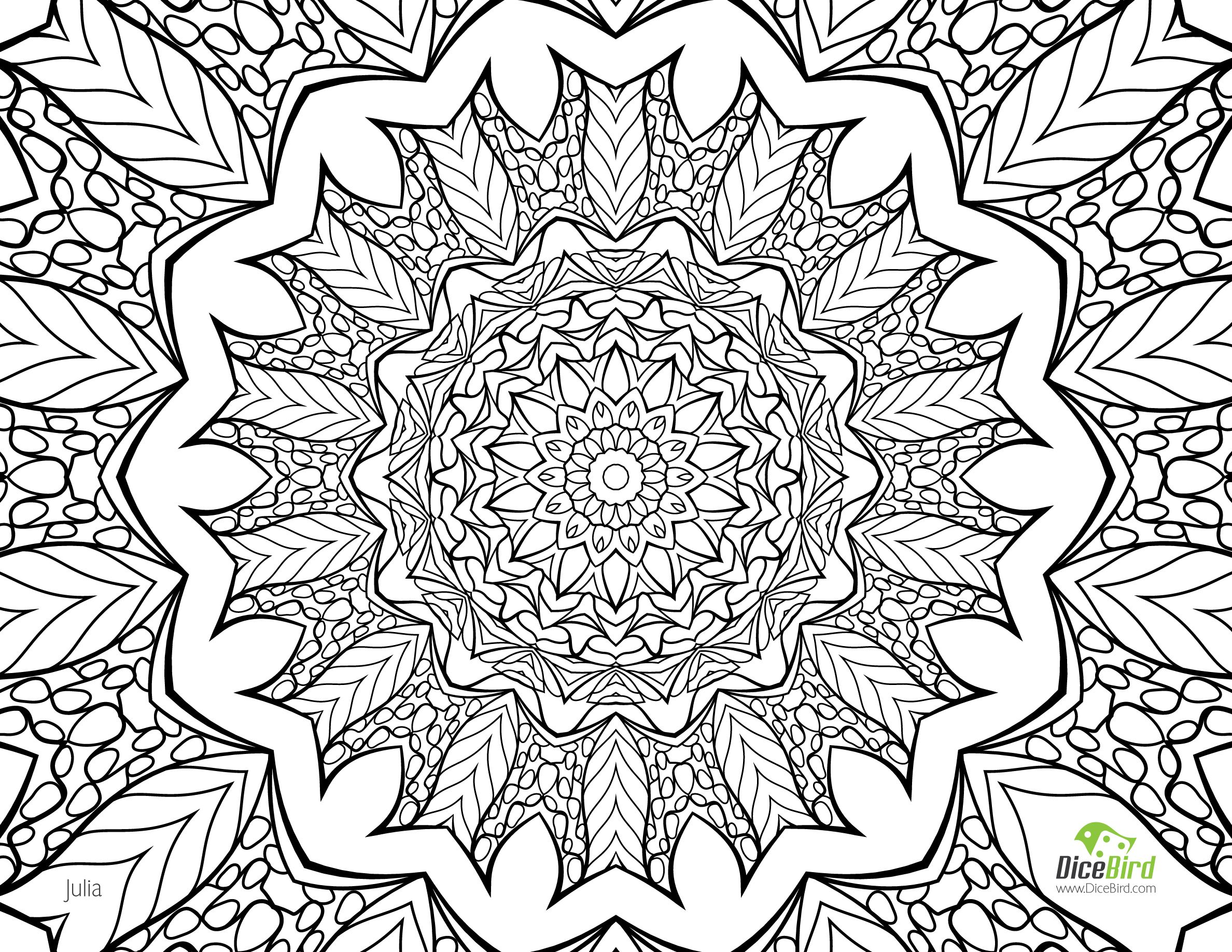 Colouring in for adults sheets - Julia Free Printable Coloring Pages For Adults Only