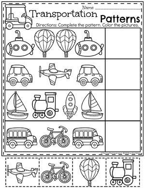 transportation worksheets preschool worksheets moyen de transport transport logique. Black Bedroom Furniture Sets. Home Design Ideas