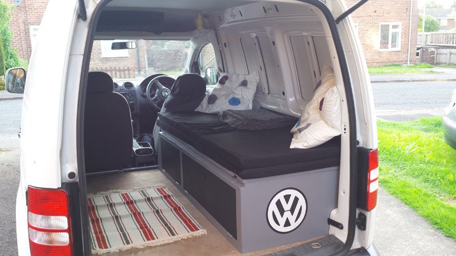 vw caddy mini camper project part 3 ride home mobile