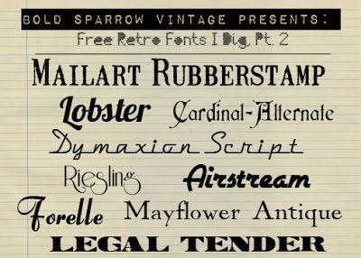 Bold Sparrow Vintage Free Retro Fonts Free Font Friday Vintage Fonts Free Retro Font Fancy Fonts