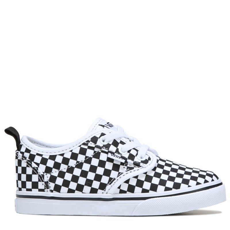b939b77341 Vans Kids  Atwood Slip On Sneaker Toddler Shoes (Checkerboard White)