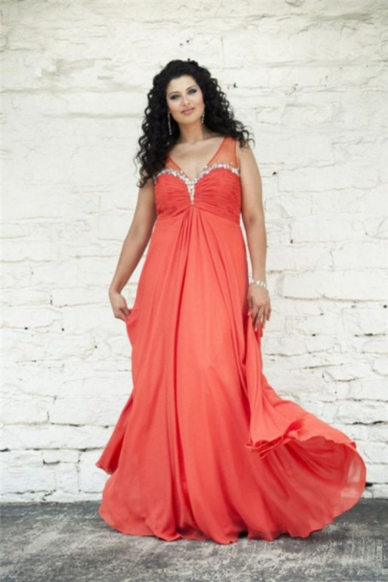 Great Plus Size Coral Dress For Wedding | Wedding Dresses | Dresses ...