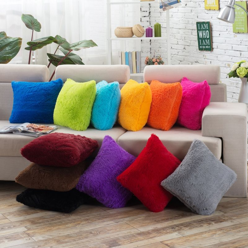 Wholesale Pp Cotton Cushion Cover Solid Color Soft Feeling Customized Sofa Decor Case In Cushion Cover Sofa Throw Pillows Plush Throw Pillows Cushions On Sofa