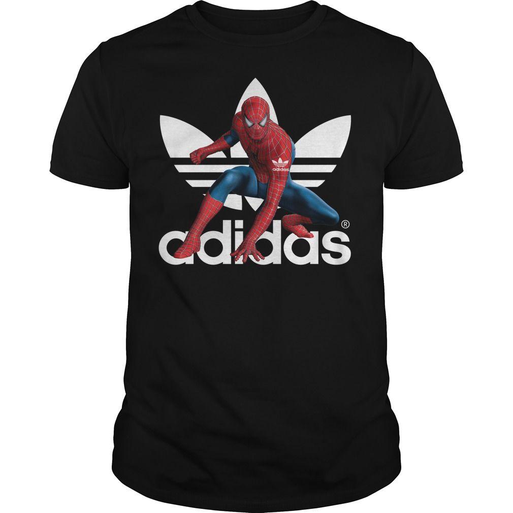 a634374a1 Marvel Spider-Man Avengers Infinity war Adidas shirt   Imagestees ...