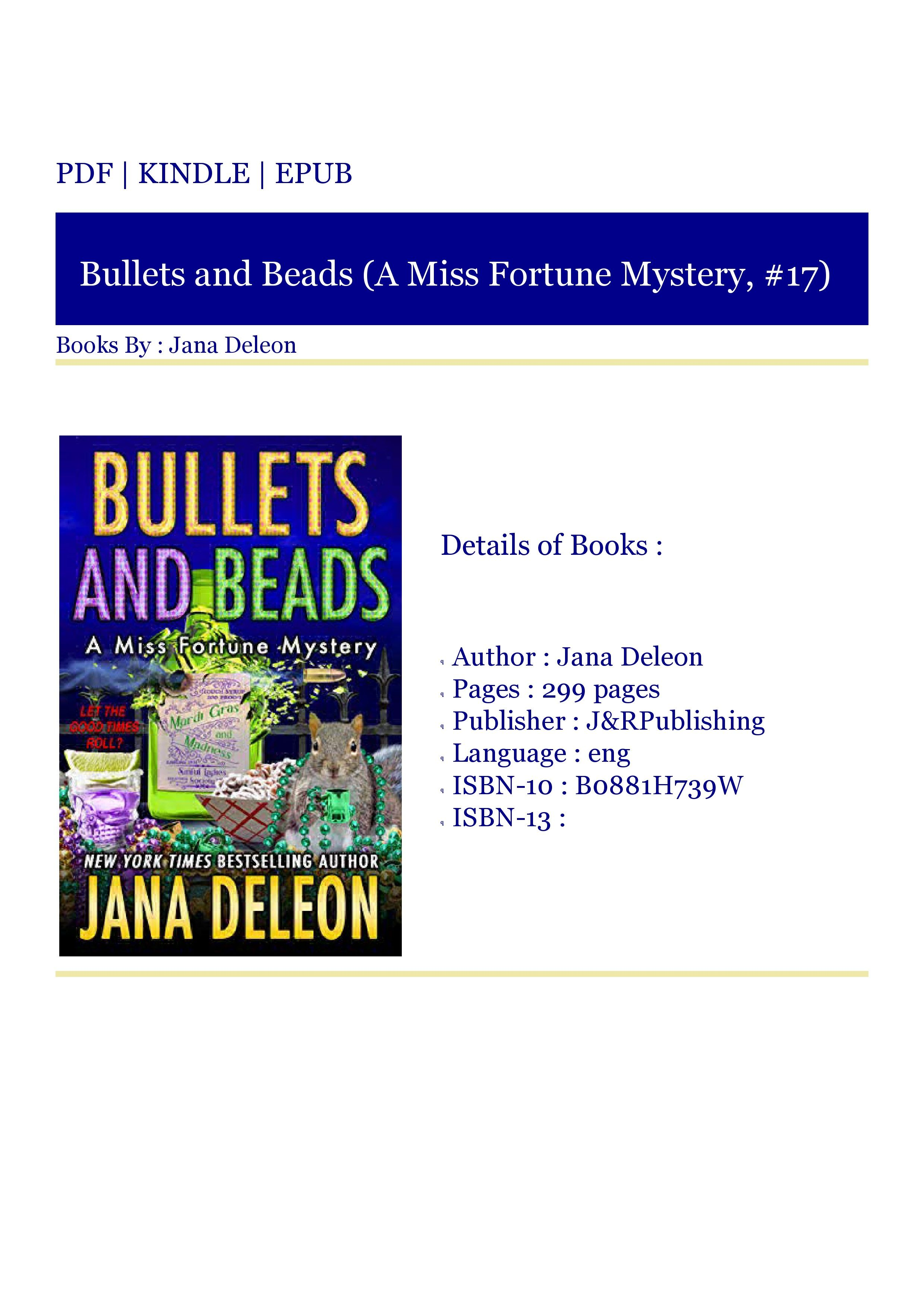 ***eBooks (PDF) Bullets and Beads (A Miss Fortune Mystery