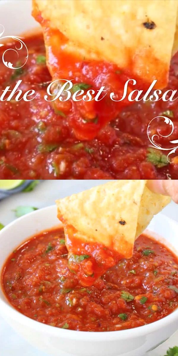 Easy and healthy, the best salsa recipe ever made with fire roasted tomatoes and an authentic touch of cumin ⭐️⭐️⭐️⭐️⭐️ #wfpb #plantbased #veganrecipes #easydinner #appetizers