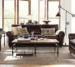 Charmant Webster Leather Sofa · Pottery Barn ...