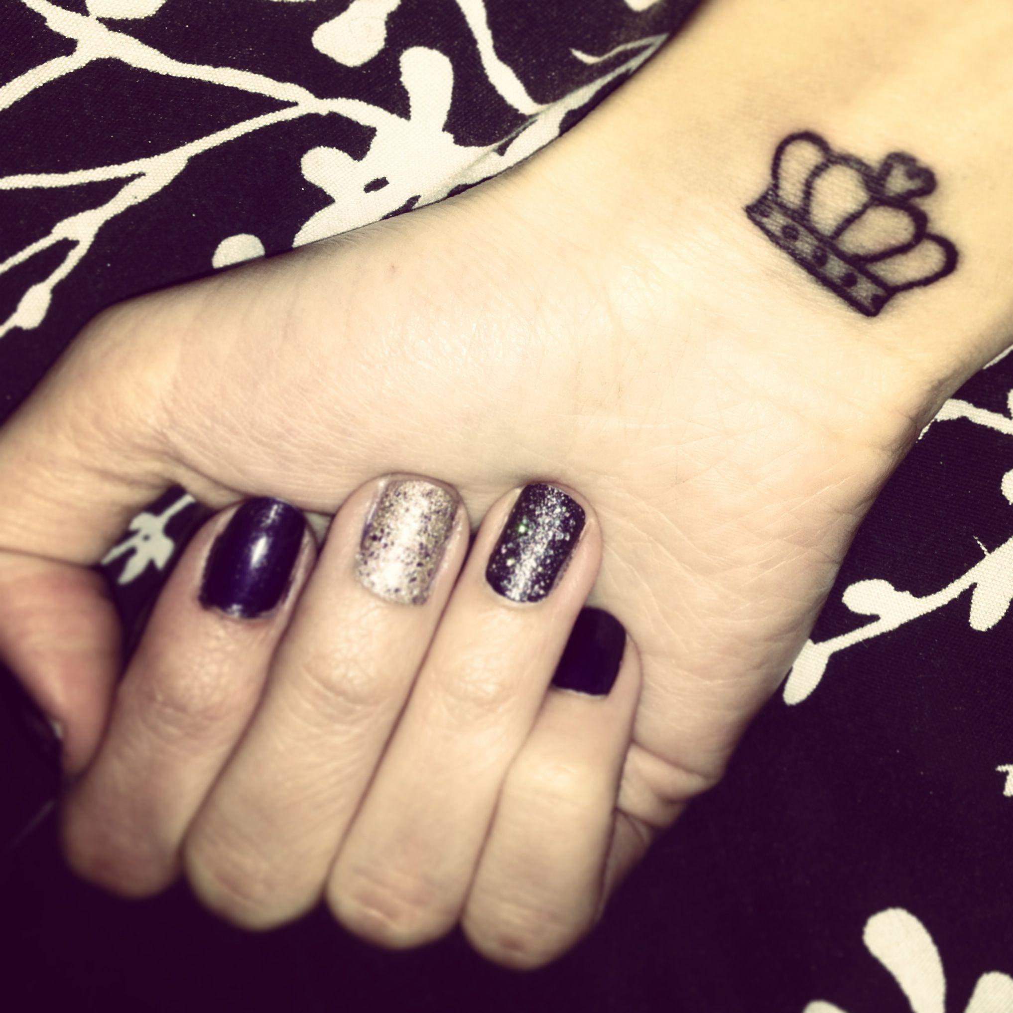 Crown Tattoo On Tumblr - Crown wrist tattoo