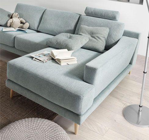 Decoraci n n rdica sof siena con chaise longue y con for Sillones para apartamentos pequenos