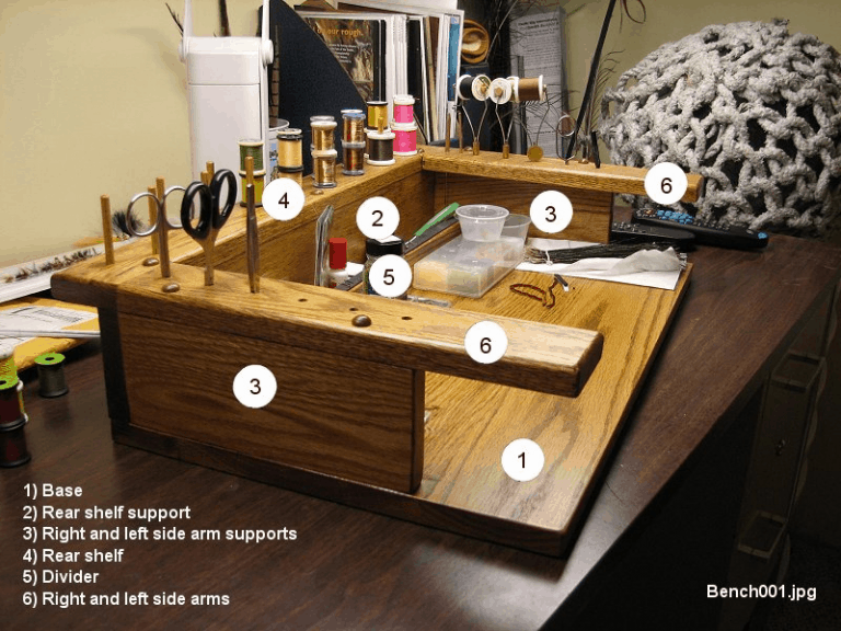 Fly Tying Bench Plans Usangler Fly Tying Desk Fly Tying Tools Fly Tying