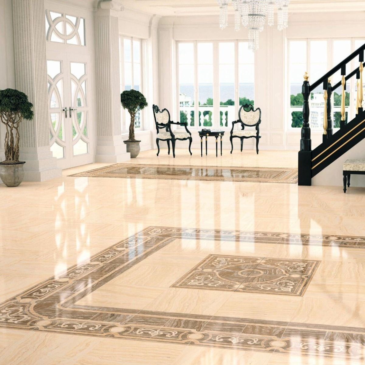 Polished glazed vitrified tiles are extra glossy and have