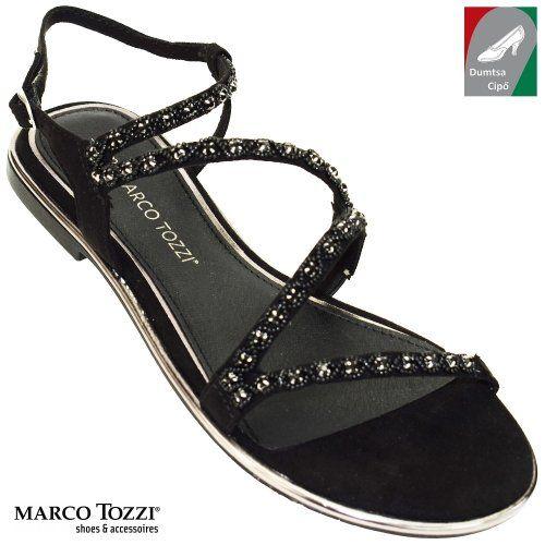 Marco Tozzi női szandál 2-28120-20 001 fekete  dc69565294