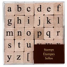 Recollections� Wood Stamps, Medium Lower Case Alphabet