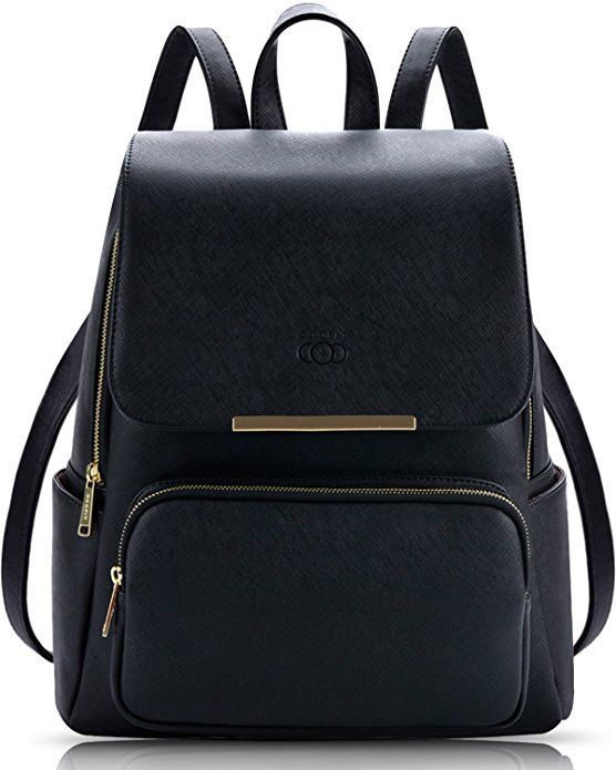 Guess Girls Black Faux Leather Backpack