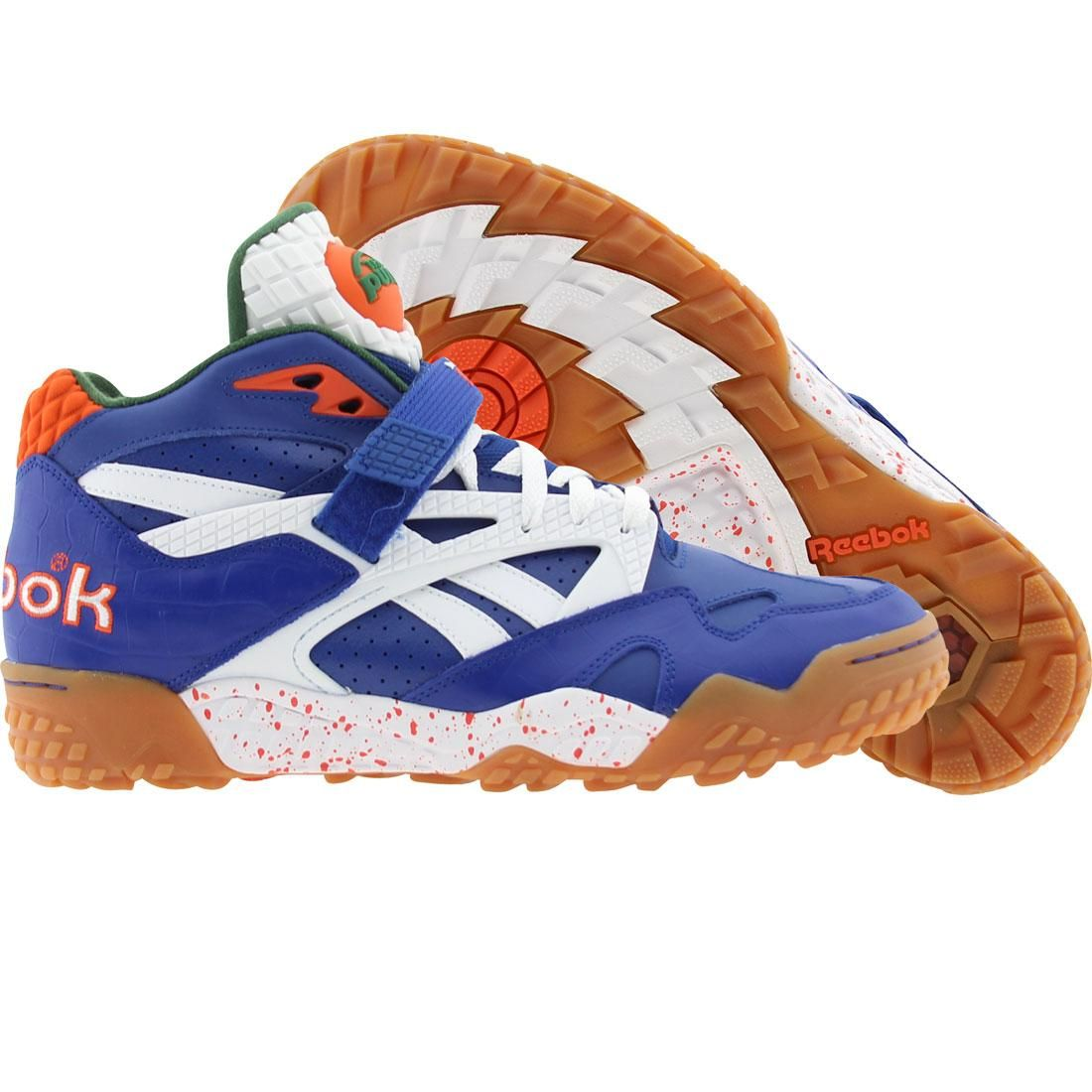 Reebok Men Pump Paydirt Mid (royal   green   white   orange) Shoes V60292 9597b7357
