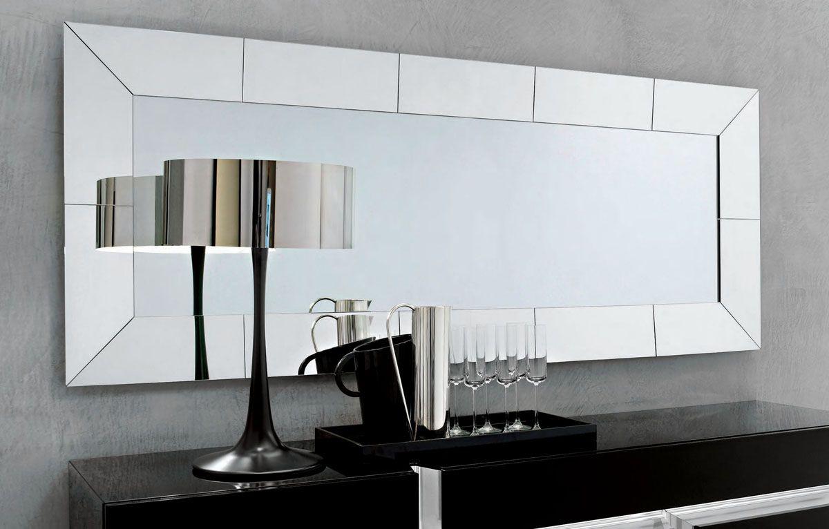 Espejo biselado  Decoracin home  Lighted wall mirror