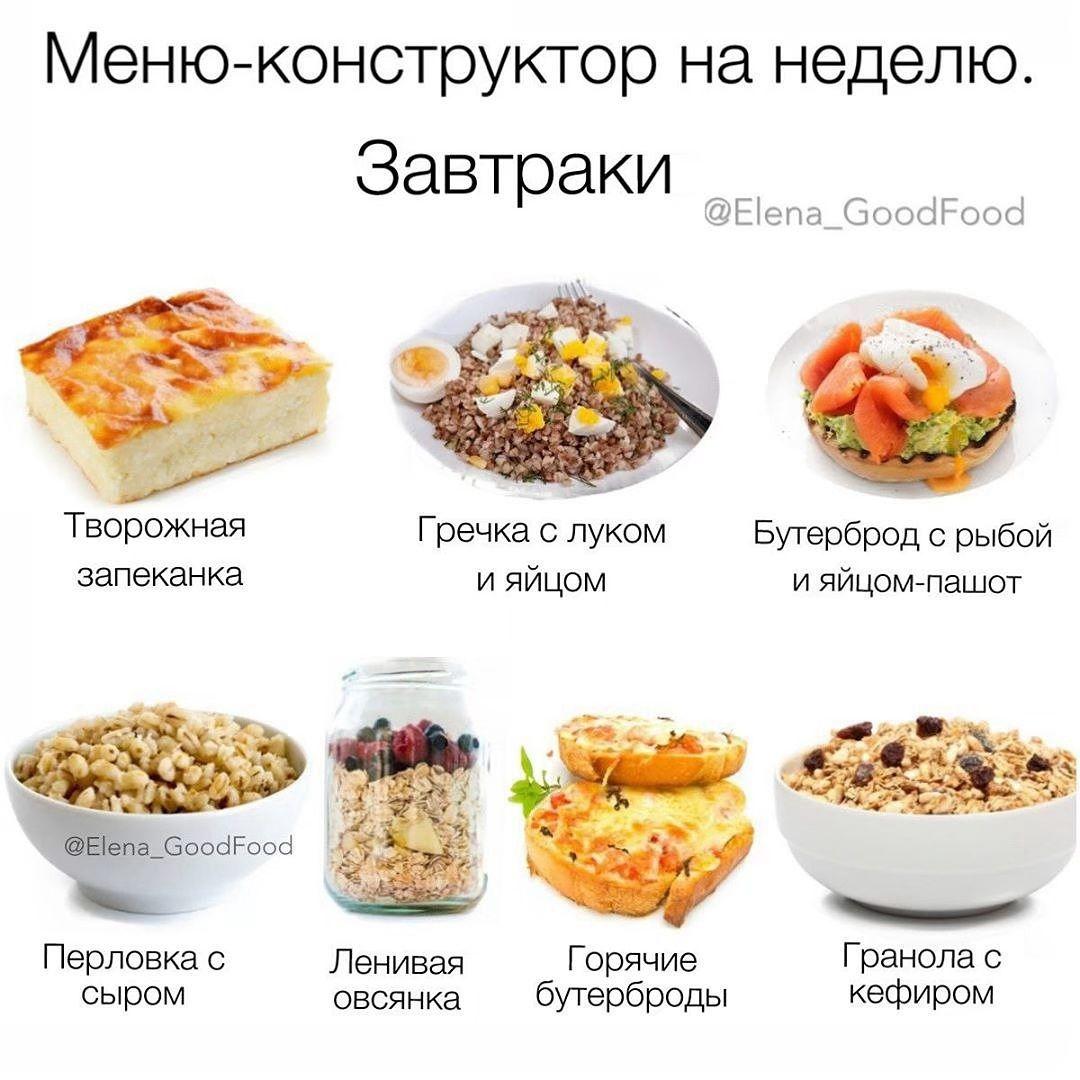 Завтрак При Диете Меню. Какие блюда выбирать на завтрак при похудении: рецепты, недельное меню