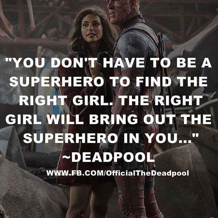 Quote Of The Day Quote Deadpool Love Deadpool Pinterest