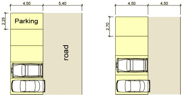 dimension for car parking space google search dimensions pinterest parking space space. Black Bedroom Furniture Sets. Home Design Ideas