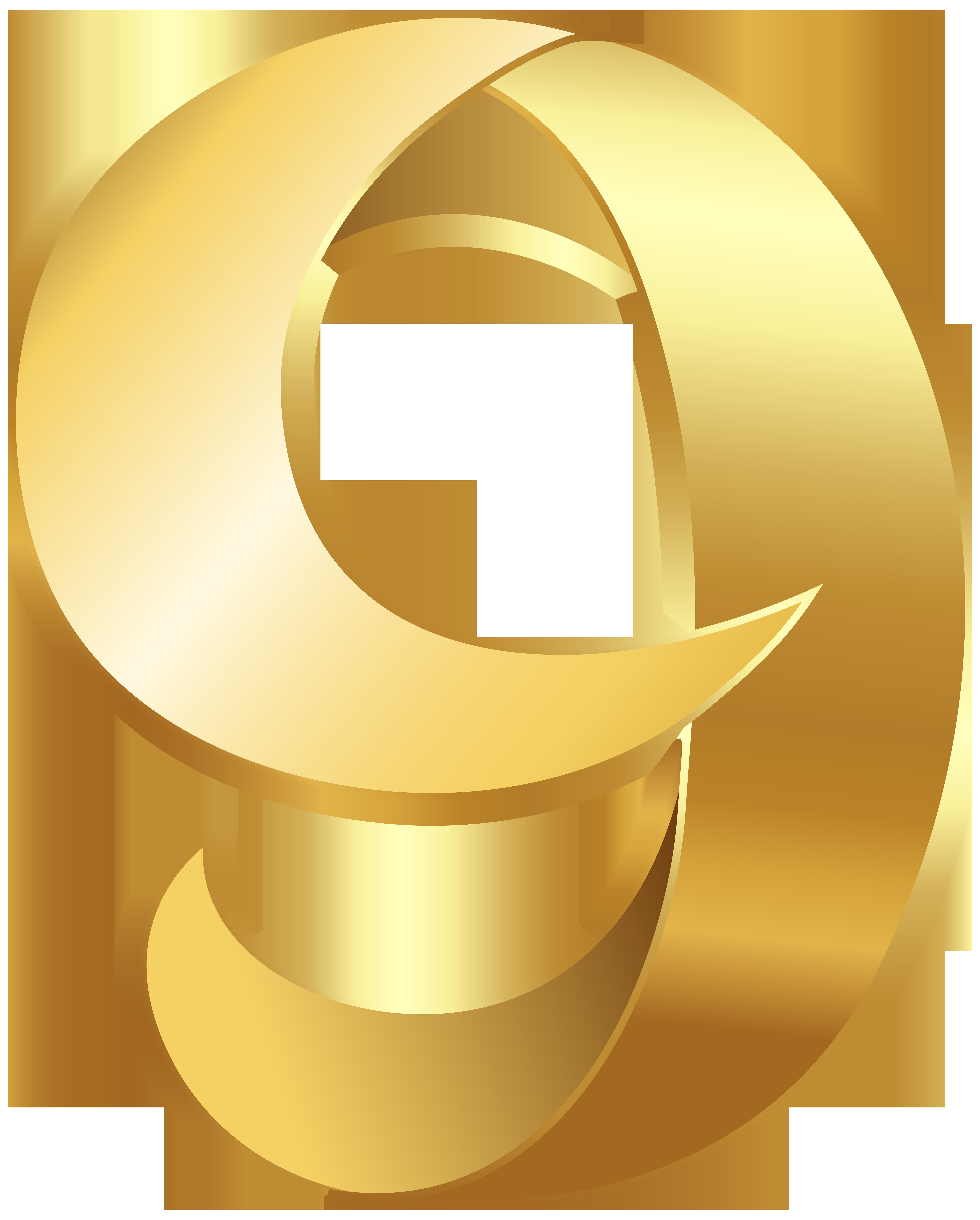 Golden Number Nine Transparent PNG Clip Art Image