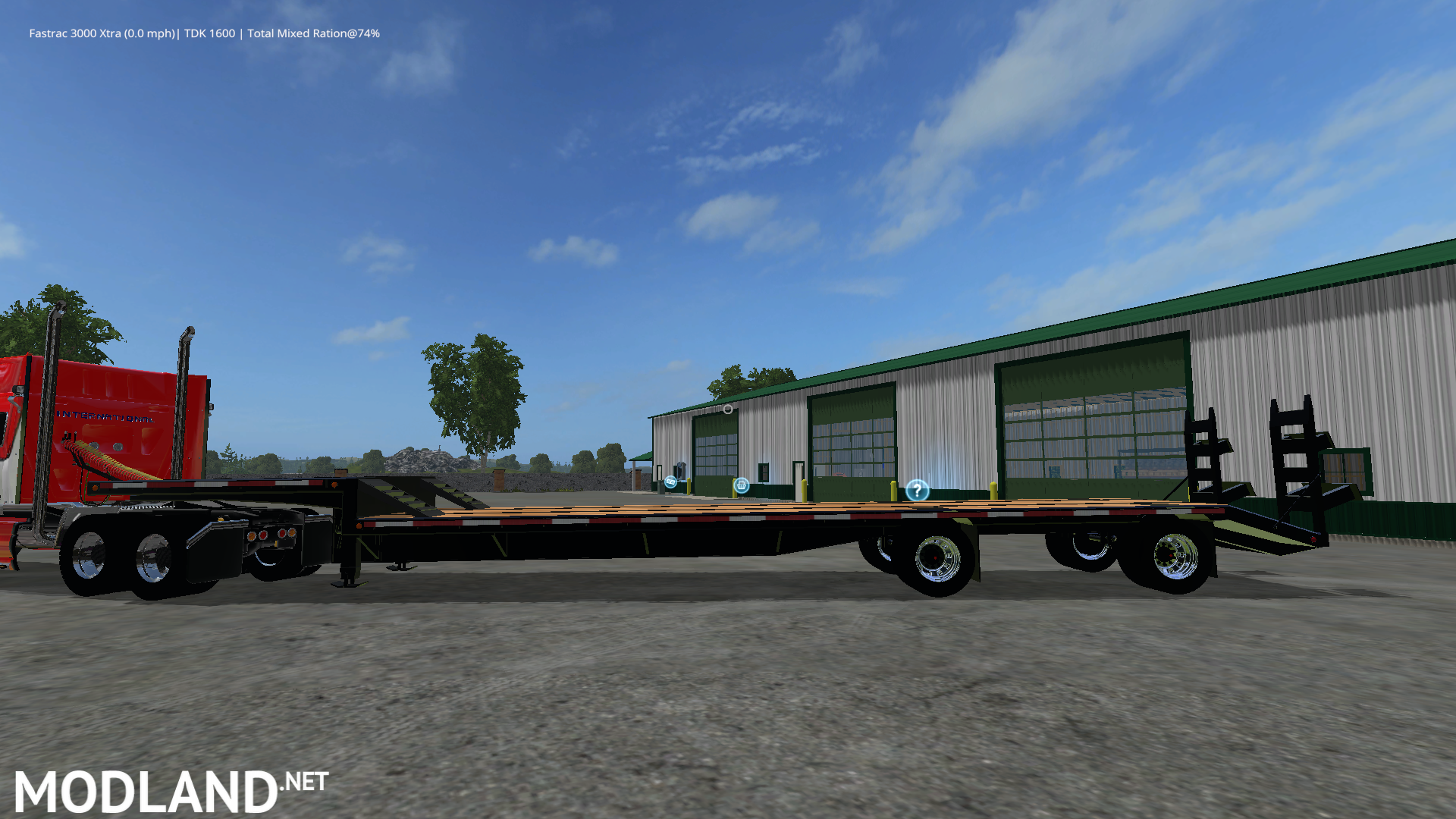 Drop Deck Trailer mod Farming Simulator 17   construction