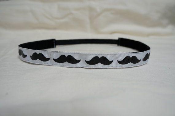 Mustache No slip headband