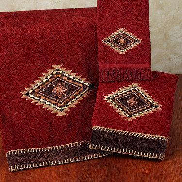 Colton Southwest Bath Towel Set Red Bath Towels Bath Towel Sets