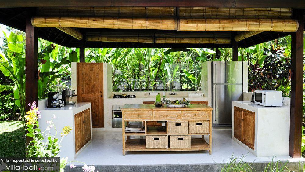 outdoor kitchen in Bali Luxury kitchen island, Tropical