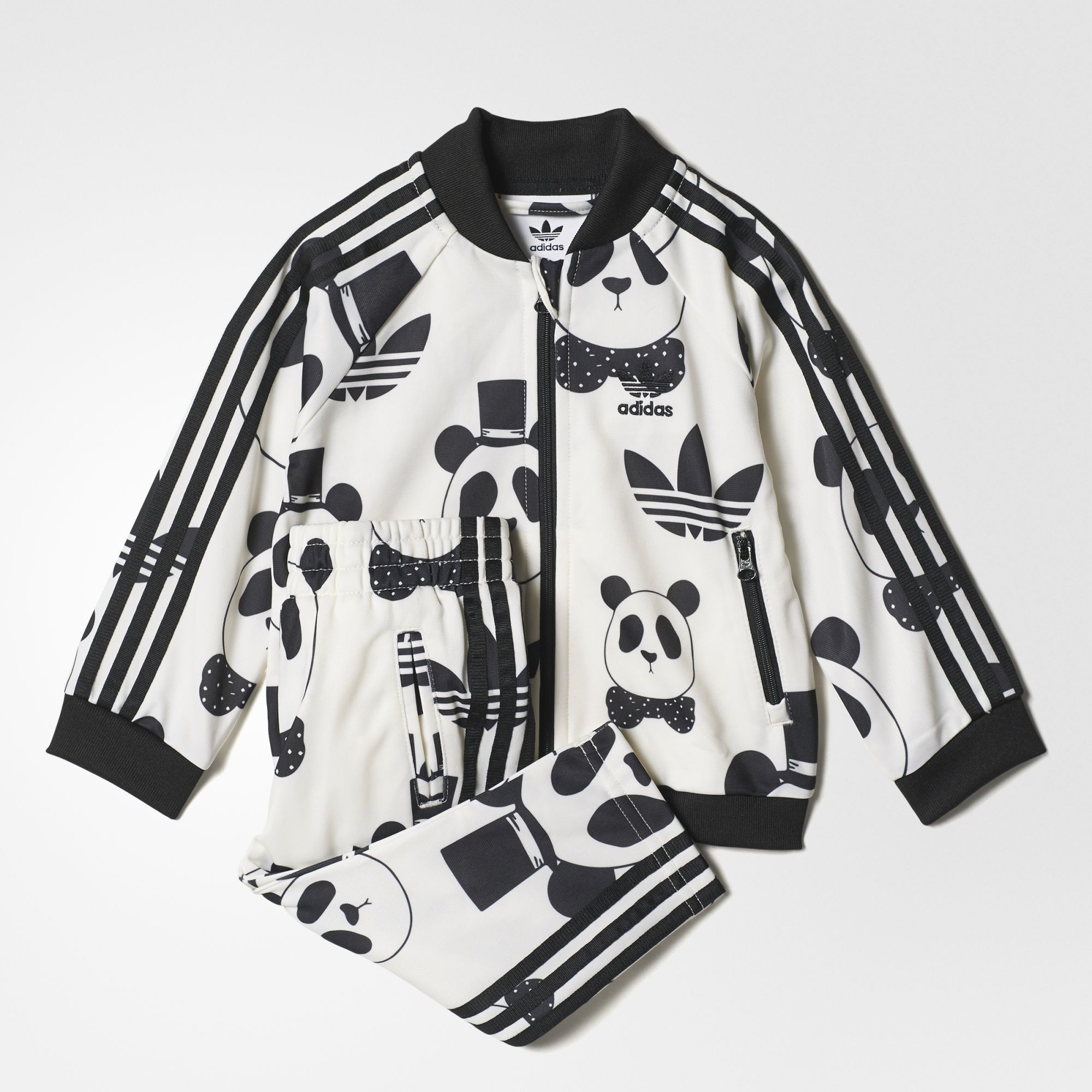 Adidas Mini Rodini Sst Track Suit Panda Outfit Kids Suits