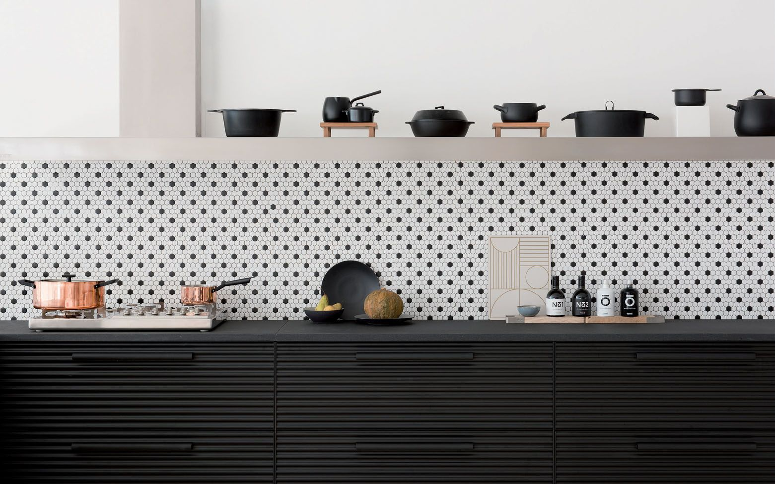 Pin By βασιλης θεοδωροπουλος On Your Pinterest Likes Kitchens Without Upper Cabinets Black Kitchen Cabinets Kitchen Interior
