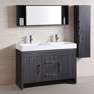 Resin Top 48 Inch Double Sink Bathroom Vanity Set By Legion Furniture Doubl