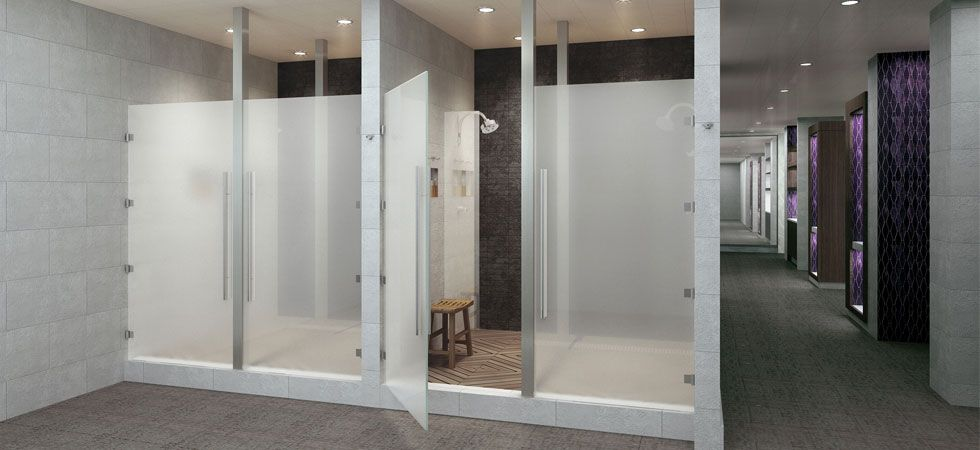 Equinox Fitness In Downtown La With Images Shower Design