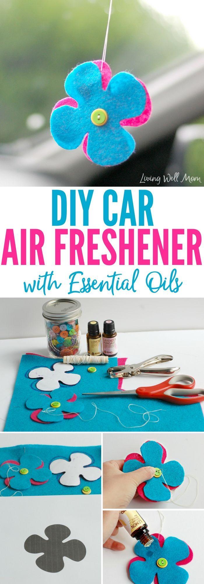 DIY Car Air Freshener with Essential Oils Homemade air