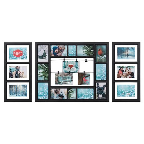 Unbranded Three Piece Collage Frame Black Other Collage Frames