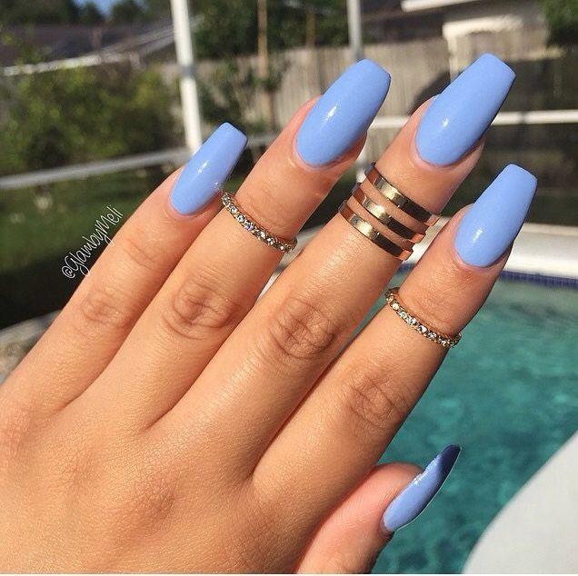 Blueish Purple Long Acrylic Nails Best Acrylic Nails Cute Acrylic Nails