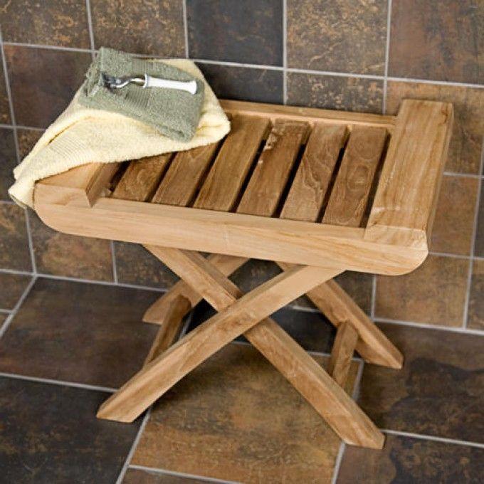 Teak Shower Seat | Shower seat, Teak and Teak wood