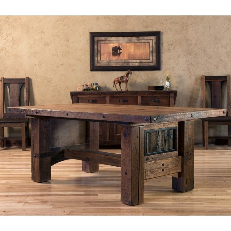 Timber Frame Barn Wood Dining Table Logfurnitureplace: Adventure Mountain Timber Frame Dining Table In 2019